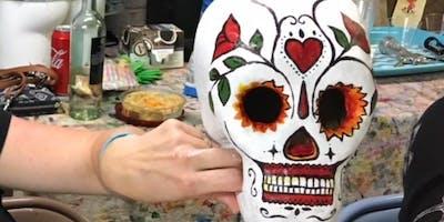 Paint 'N Sip - Sugar Skull 3D ~ BYOB