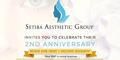 Setiba Aesthetics Group - 2nd Anniversary tickets