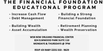 FREE Financial Planning Workshops