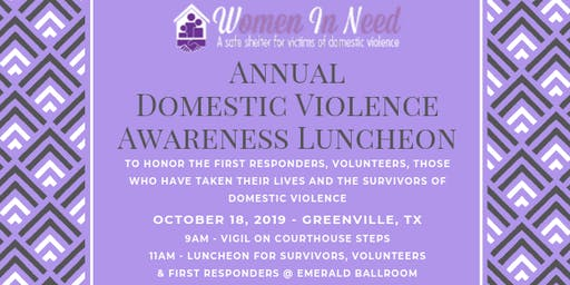 Domestic Violence Awareness Luncheon - Hunt County