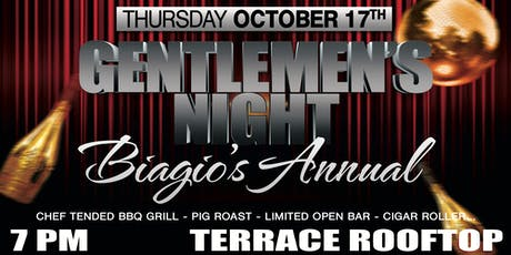 Rooftop Gentlemen's Night  on The Terrace at Biagios tickets