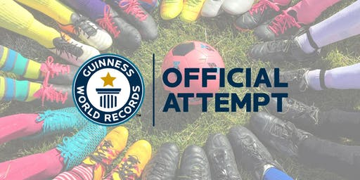 Guinness World Records attempt for the BIGGEST SOCCER LESSON!