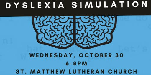 Dyslexia Simulation Event