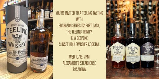 Teeling Irish Whiskey Tasting w Brabazon 02 Port Cask + a Special Cocktail