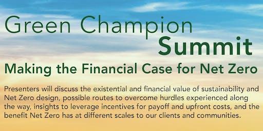 Green Champion Summit: Making the Financial Case for Net Zero