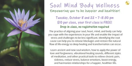 Soul Mind Body Wellness: Healing through sound and movement! tickets