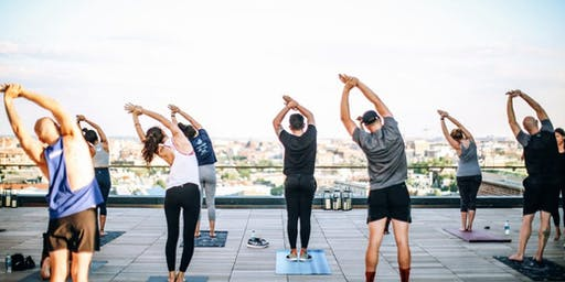 WiseMind Rooftop Yoga Flow Mindfulness Meditation Forum & Happy Hour Social