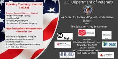 Dept. of Veterans Affairs: CFOI-Resource and Salvation Army Employment Fair