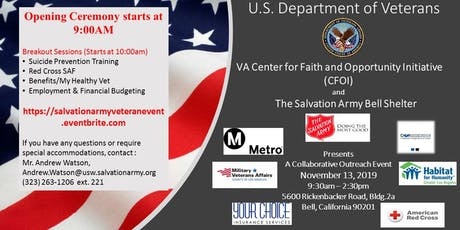 Dept. of Veterans Affairs: CFOI-Resource and Salvation Army Employment Fair tickets