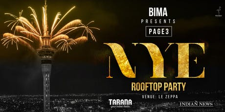 Page3 Rooftop New Years Eve 2020 tickets