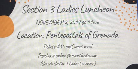 Section 3 Ladies Luncheon tickets