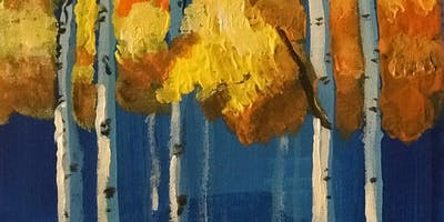 Pour & Paint Fall Trees
