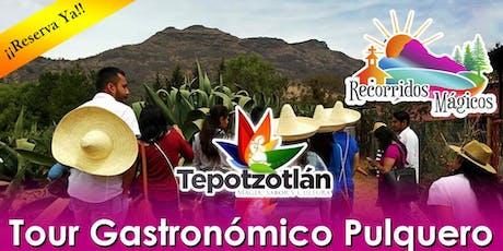 Tour Gastronómico Pulquero Tepotzotlan  boletos