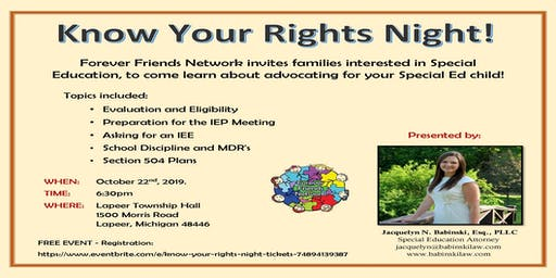 Know Your Rights Night!