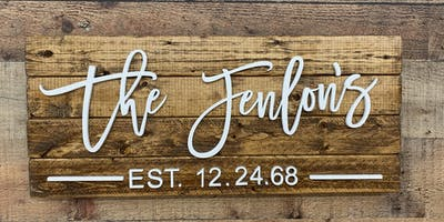 Create your Family Name Sign by Plank Design Company