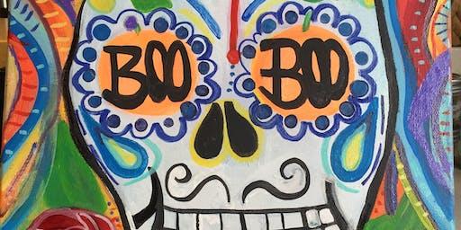 """Pour & Paint """"BOO"""""""
