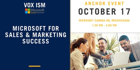 Microsoft For Sales & Marketing Success tickets