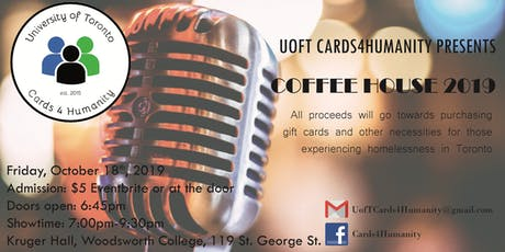 UofT Cards4Humanity Coffee House 2019 tickets