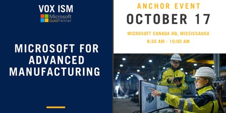 Microsoft for Advanced Manufacturing tickets