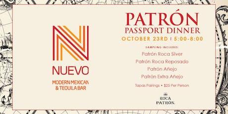 Patron Tequila Passport Dinner tickets