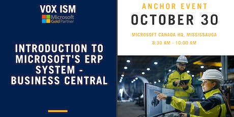 Introduction to Microsoft's ERP System - Business Central tickets