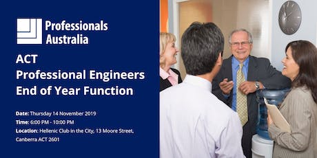 ACT Professional Engineers AGM & End of Year Function tickets
