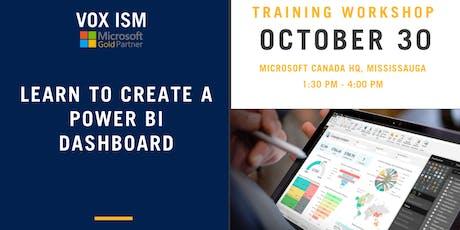 Learn to create Power BI Dashboards - Microsoft tickets