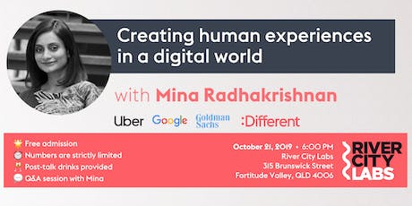 Mina from :Different on: creating human experiences in a digital world tickets