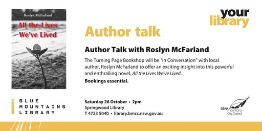 "An Author ""In Conversation"" - Roslyn McFarland and The Turning Page"