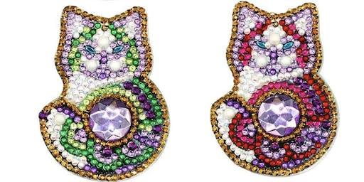 Pour & Paint Diamond painting Cat keychain