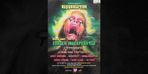 RAWPONY X RESURRECTION HALLOWEEN SHOW: DANGER INCORPORATED / TITTSWORTH - OPEN BAR ALL NIGHT