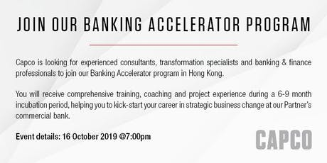 Join Our Banking Accelerator Program | Top Tier Bank | Capco tickets