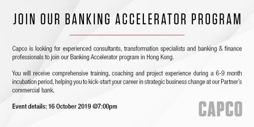 Join Our Banking Accelerator Program | Top Tier Bank | Capco