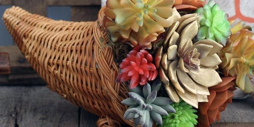 Succulent Cornucopia for Thanksgiving