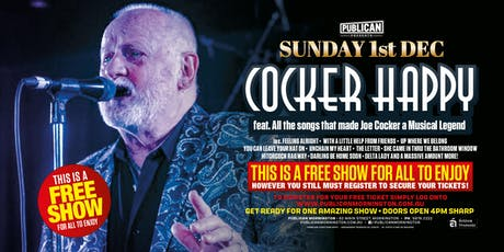Cocker Happy - Joe Cocker Tribute LIVE at Publican, Mornington! tickets