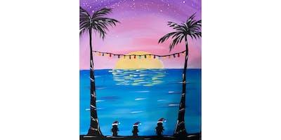"Adult Open Paint (18yrs+) ""Penguin Sunset"""