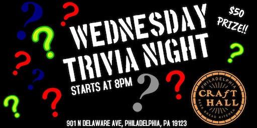 Wednesday Trivia Night at Craft Hall