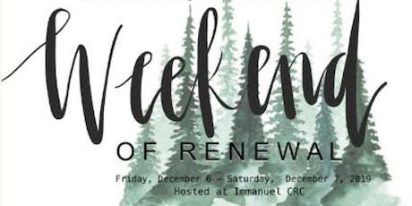 Weekend of Renewal tickets