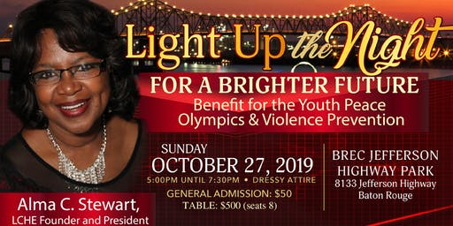 Light Up the Night for a Brighter Future Annual Fundraiser for Youth Peace Olympics