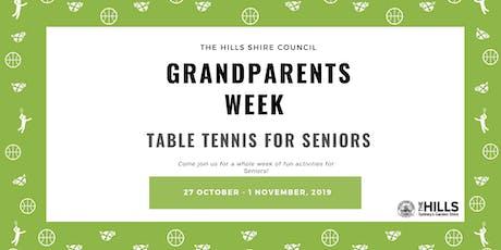 Table Tennis- Grandparents Week tickets