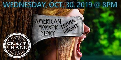 American Horror Story Trivia - Wednesday Trivia Night  (Philadelphia, PA) tickets
