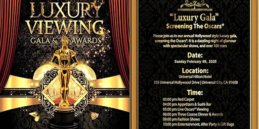 Luxury Gala 2020 -Screening the Oscars®