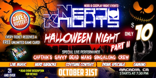Halloween Night & Karaoke Party at Dave & Buster's