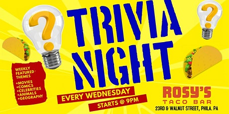Wednesday Trivia at Rosy's Taco Bar tickets