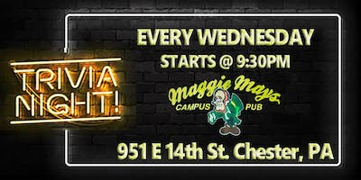 Wednesday Trivia Night at Maggie Mays (Delaware County, PA)