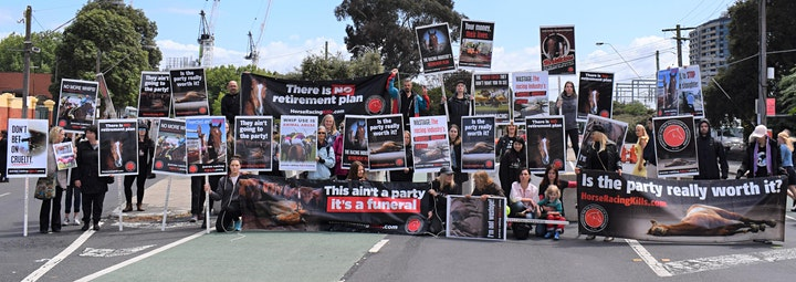 Protest at the Caulfield Cup image