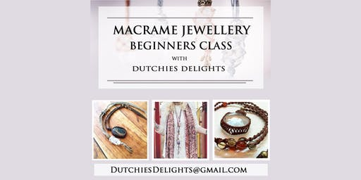 Macrame jewellery beginners class