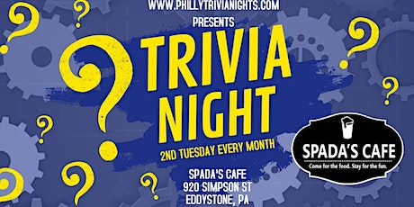 2nd Tuesday Trivia Night at Spada's Cafe (Delaware County, PA) tickets