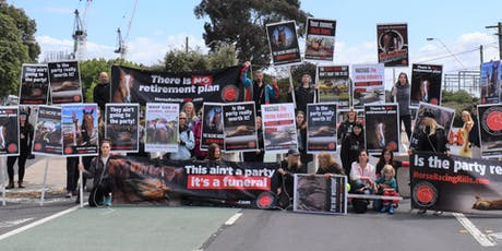 Protest at the Caulfield Cup tickets