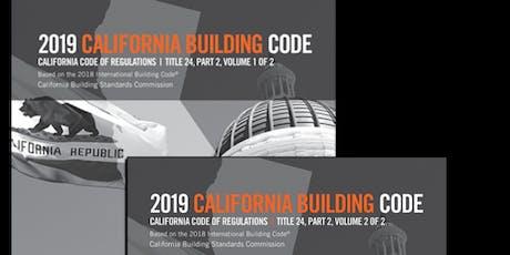 2019 California Building Code Update tickets